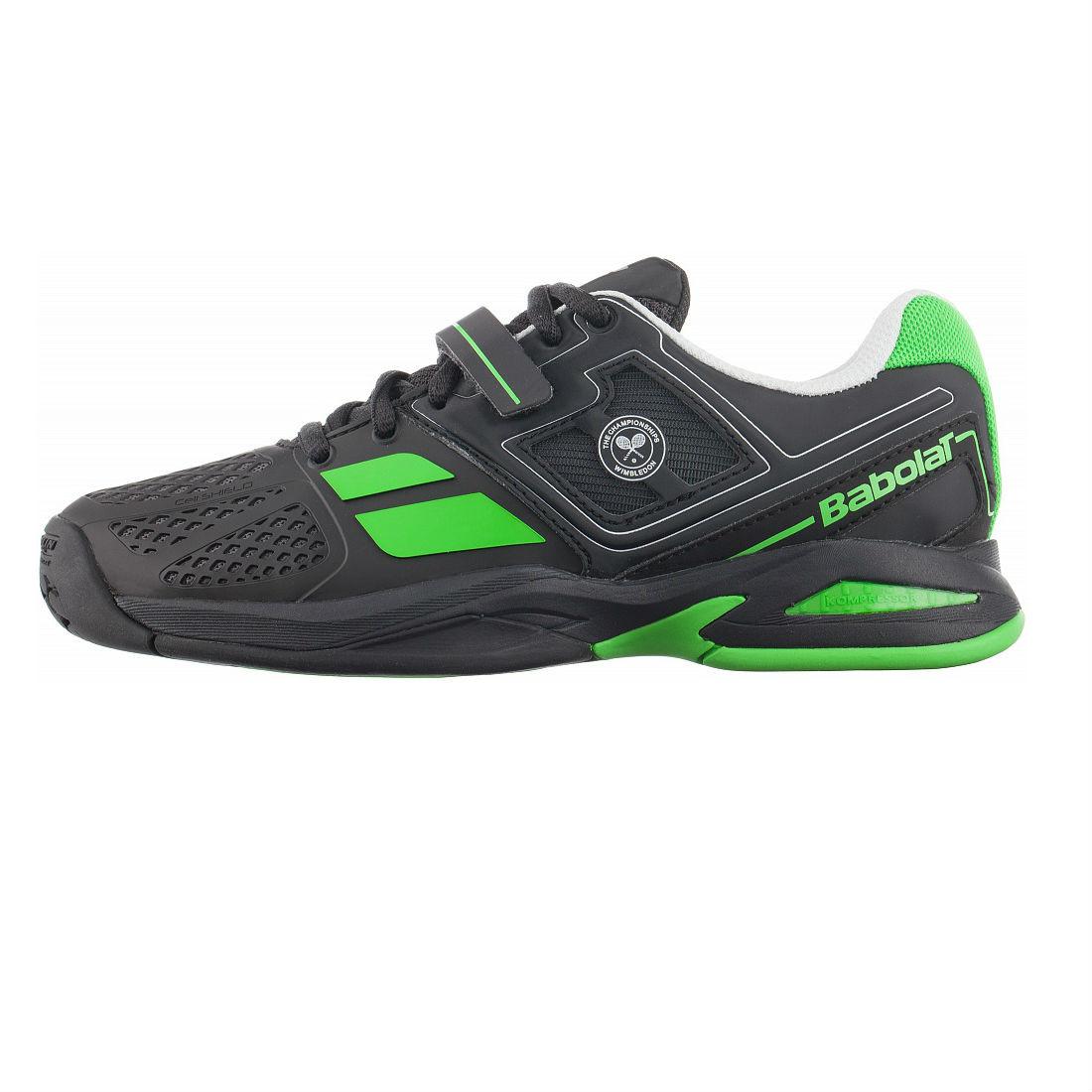 Кроссовки теннисные детские BABOLAT Propulse BPM AC Junior black/green (33S1577/166)