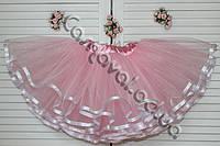 Розовая юбка-пачка   для девочки
