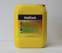 Грунтовка Polifarb ГРУНТ-ЭКО 10кг – Универсальная акриловая грунтовка для стен и фасадов зданий.