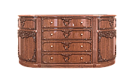 Комод класический, индивидуальный, уникальный, гнутые фасады размером 207х51х101 см Неаполь