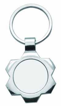 """Брелок круг фигурный металлический в форме """"Цветок"""" для сублимации"""