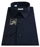Рубашка мужская классическая темно-синяя №10к  40-100 V3