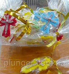 Сахарное украшение для торта, пирожных, кулича Крестик