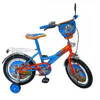 Велосипед 2-х колес 12'' 141202  со звонком, зеркалом, с вставками в колесах