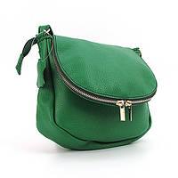 Зеленая кожаная сумочка Viladi через плечо