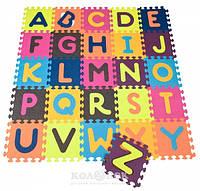 Детский развивающий коврик-пазл ABC 140х140 см, 26 квадратов Battat