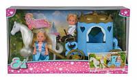 """Кукольный набор Еви и Тимми """"Карета принцессы"""" с конем, 3+"""