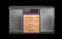 Комод-витрина класический, индивидуальный, уникальный, гнутые фасады размером 140х44,5х75 см Милано
