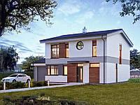 Проект двухэтажного дома Hd 56-1