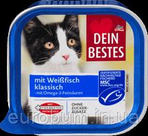 Dein Bestes Паштет для кошек с белой рыбой 100 г (Германия)