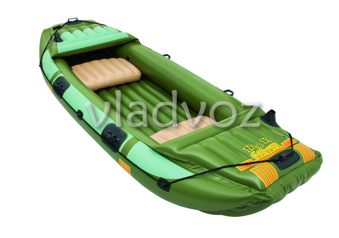 фото лодки трехместной из пвх надувной с веслами 65008
