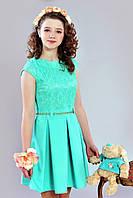 Мятное платье для девочки-подростка