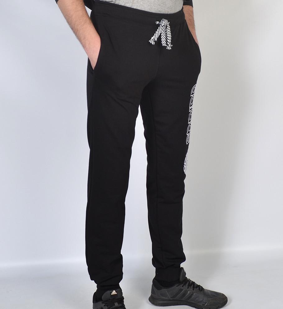 Чоловічі трикотажні спортивні штани в стилі Adidas-чорні  1cb6e86f57fef