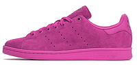 Женские кроссовки Adidas Stan Smith Original RIO Powder Fucsia (Адидас Стэн Смит) розовые