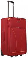 Добротный красный двухколесный чемодан большой из ткани 85 л. SOS Roncato SKATE 01 Red, 45.37.01.05