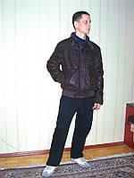 Куртка мужская, искусственная кожа крэк