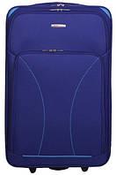 Добротный синий двухколесный чемодан большой из ткани 85 л. SOS Roncato SKATE 01 Blue, 45.37.01.22