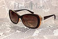 Женские  Брендовые солнцезащитные очки BVLGARI 2347 Коричневые со стразами по бокам, доставка из Одессы