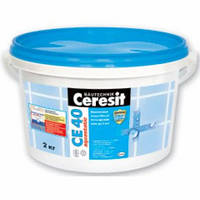 Ceresit CE-40 Aquastatic (Эластичный водостойкий цветной шов до 6 мм розовый, ореховый, кирпичный  2кг)
