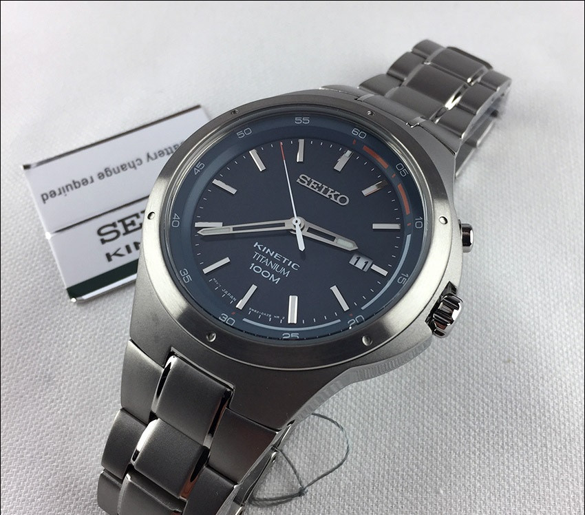 Часы Seiko SKA711P1 Titanium Kinetic 5M82