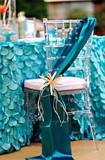Стул банкетный Чиавари, Сhiavari, Кьявари очень крепкий прозрачный из поликарбоната со съемной мягкой подушкой, фото 3
