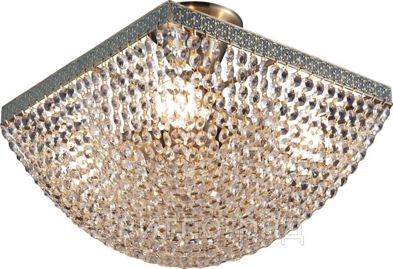 Люстра Хрустальная   Светильник Потолочный Altalusse INL-1122C-04 Oxidized Antique Brass