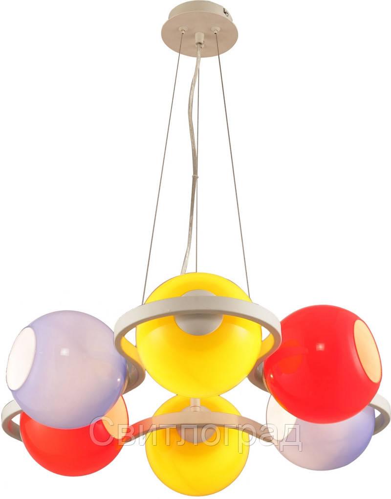 Люстра с Плафонами   Светильник Подвесной Altalusse INL-9316P-06 White & Blue, Yellow, Red