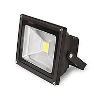EUROELECTRIC LED Прожектор COB чорний 20W 6500K classic