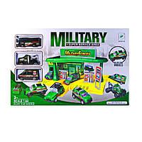 Детский парковочный центр с военными машинами