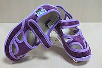 Тапки в садик для девочки на липучках мальчика текстильная обувь Виталия Украина р. 23