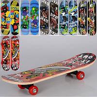 Детский скейт MS0323-3 60х15 см, 6 цветов