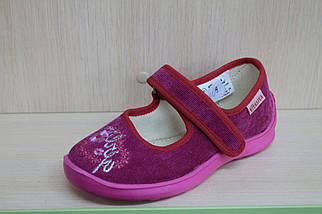Тапочки для девочки в садик текстильная обувь Vitaliya Виталия Украина, размеры 28,28.5,30,31, фото 3