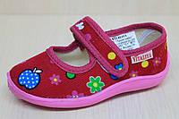 Детские тапочки для девочки в садик мальчик текстильная обувь Виталия Украина размеры с 23 по 27