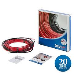 DEVIflex 18T - 34 м (615 Вт) двожильний нагрівальний кабель з суцільним екраном