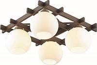 Светильники потолочные деревянные