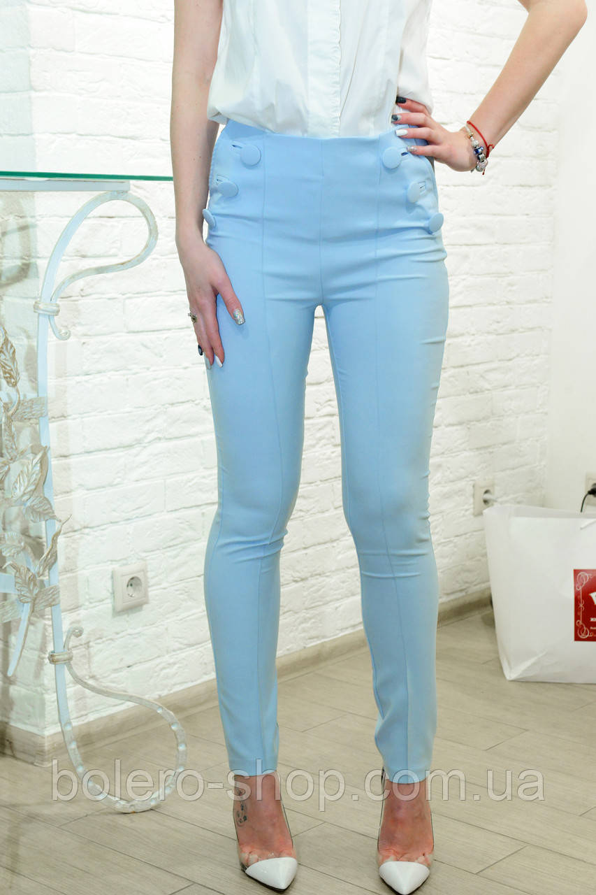 Женские штаны брюки весенние  голубые