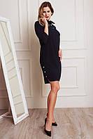 Стильное черное женское платье