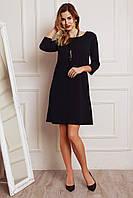 Черное лаконичное платье