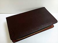 Большое мужское портмоне коричневого цвета, фото 1