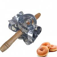 Форма-скалка для пончиков Donut Cutter