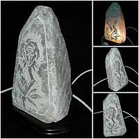 Соляная лампа-ночник 17 см ручная работа 305
