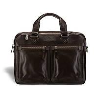 Кожаная мужская деловая сумка Blamont 001 темнокоричневая