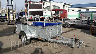 Прицеп для перевозки мусора 2,5м х 1,4м х 0,5м. Тормоза!