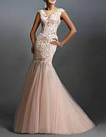 DL-593 Платье Свадьбу Выпускной Русалка Шлейф