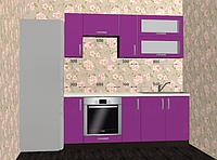 Кухонный гарнитур Gamma Мебель-Сервис 2000 мм матовый цвет