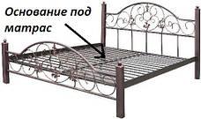 Кровать кованая Вероника фабрика Металл Дизайн, фото 2