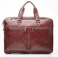 Кожаная мужская деловая сумка Blamont 001 коричневая