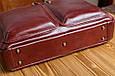 Кожаная мужская деловая сумка Blamont 001 коричневая, фото 6