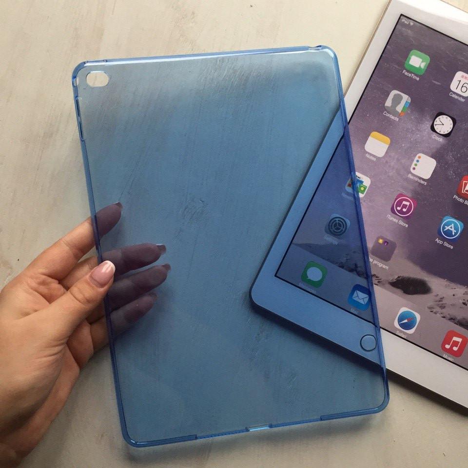 Голубая силиконовая накладка  для iPad Air 2