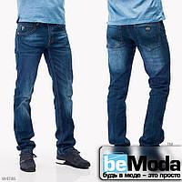 Красивые мужские джинсы Mardoc с оригинальными потертостями синие